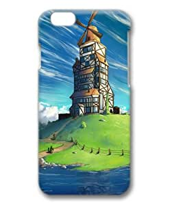 Sakuraelieechyan Hard Protective 3D Cover Case for Iphone6 (4.7 inch) With Windmill House