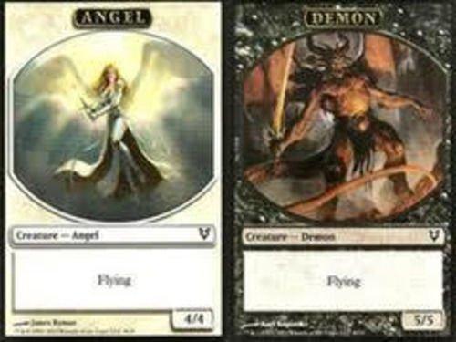 Magic: the Gathering - x1--Angel/Demon (Flip) Promo Token Card-Avacyn Restored