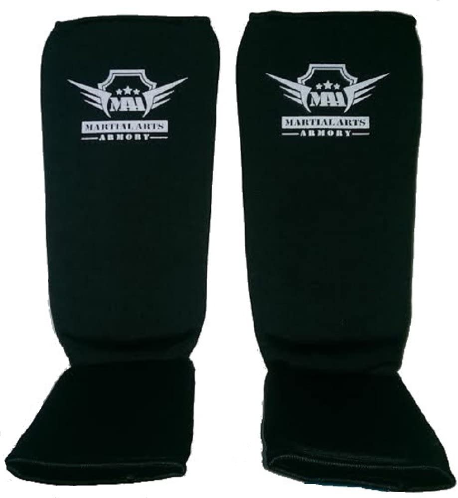 Martial Arts Armory Elastic Cloth Shin Guards – ブラック  X-Large