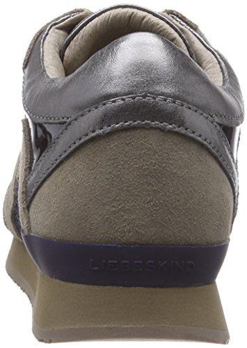 Liebeskind Berlin LS0042 material mix - zapatilla deportiva de cuero mujer gris - Grau (grey 0002)