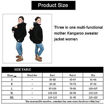 f218b598075e Porte bébé Violet et vert Trois-en-un mère multifonctions Kangourou Zipper  Hoodie Taille