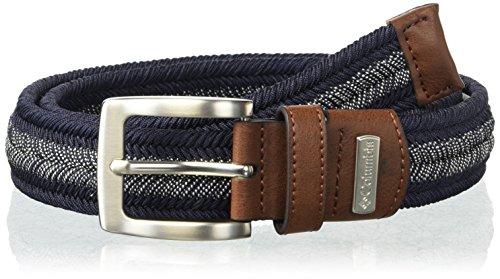 Columbia - Cinturón elástico casual para hombre, Marino, Medium
