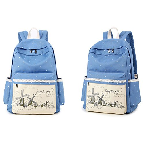 fe40850fce485 Inwagui Rucksack Canvas Laptop Rucksäck Segeltuch Schulter Rucksack  Schultaschen Umhängetasche Handtasche Canvas Sling Bag Outdoor Sporttasche  ...