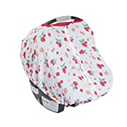 Little Unicorn Cotton Muslin Car Seat Canopy - Strawberry