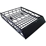 Universal Roof Rack Cargo Car Top Luggage Carrier Basket Storage Traveling SUV
