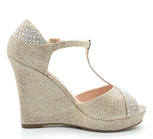 DREAM PAIRS Women's Angeline-02 Black Suede Fashion Dress Wedges Platform Heel Peep Toe Wedding Pumps Sandals Size 8.5 M ()