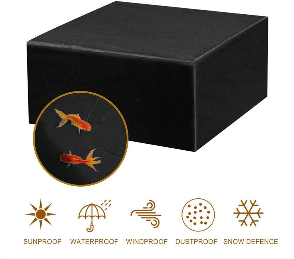 MORIASTER Funda Protectora para Muebles de jardín Funda Muebles Exterior Impermeable Anti-UV Protección Cubierta de Muebles de Mesas Oxford Negro (135 * 135 * 75 cm)
