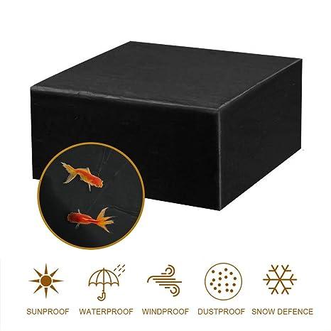 MORIASTER Funda Protectora para Muebles de jardín Funda Muebles Exterior Impermeable Anti-UV Protección Cubierta de Muebles de Mesas Oxford Negro (135 ...