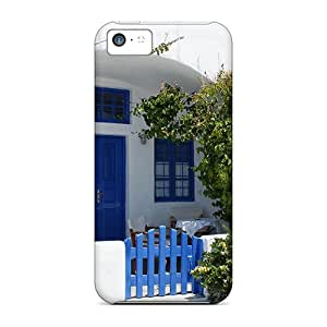 First-class Case Cover For Iphone 5c Dual Protection Cover Thira House In Santorini