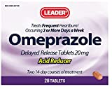 Leader Omeprazole Delayed Release Tablets, 20 mg Per Tablet, 28 Tablets Per Box (9 Pack)