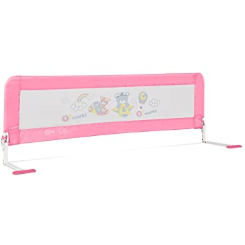 PINK 59'' Breathable Baby Children Toddlers Bed Rail Guard Safety Swing Down
