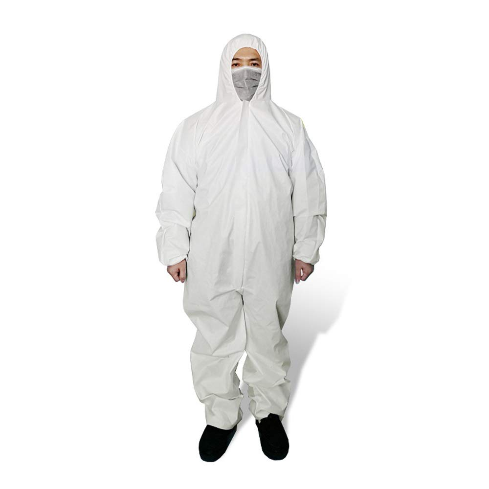 lisolamento di abbigliamento for ospedali medici Istituzioni antipolvere impermeabil pellicola del PE traspirante pellicola protettiva H-FYF Prodotti medici di un pezzo di isolamento Abbigliamento