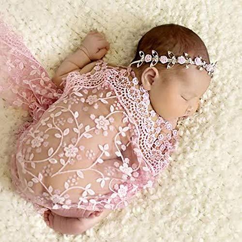 Matissa Newborn Baby Girl/Boy Lace Tassels Wrap Swaddle Layer Baby Photography Prop