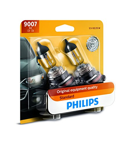 2001 Nissan Altima Headlight - Philips 9007 Standard Halogen Replacement Headlight Bulb, 2 Pack