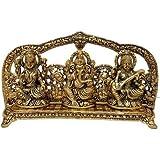 RCI Handicrafts Laxmi Ganesh Saraswati Idol Gold Plated Showpiece Statute Gift (Gold, lgsgld)
