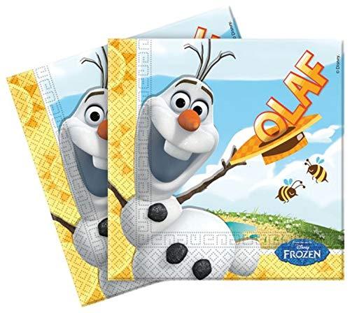 Unique Disney Frozen Party - Olaf Summer Napkins x 20 -