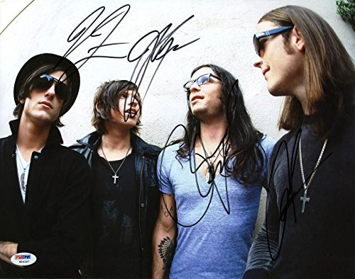 Kings Of Leon (4) Followill Brothers Signed 11X14 Photo #W04367 - PSA/DNA Certified