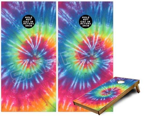 Cornhole Bag Toss Game Board Vinyl Wrap Skin Kit - Tie Dye Swirl 104 (fits 24x48 game boards - Gameboards NOT INCLUDED)