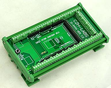 Electronics-Salon DIN Rail Mount Screw Terminal Block Adapter Module, For  Arduino MEGA-2560 R3