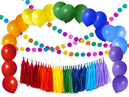 Gay Pride Birthday - 56pcs Value Rainbow Colorful Party Decoration