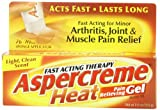 Aspercreme Heat Pain Relieving Gel, 2.5 Ounce