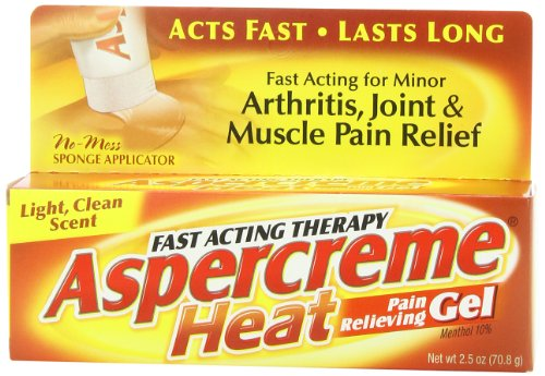 Aspercreme Heat Pain Relieving Gel, 2.5 (Gel 2.5 Ounce Gel)