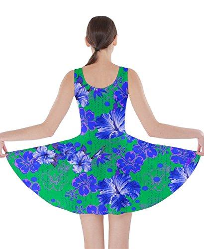 CowCow Damen Kleid Mehrfarbig Gr. X-Small,  - Green Hawaii 2