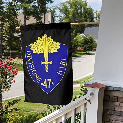 FLAGERLIN 47th Infantry Division Bari Double-Sided Decorative Garden Flag Outdoor Patio Seasonal Holiday Family Flag - 12.5x18inch   28x40inch Home House Flag