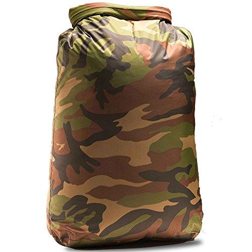 Aqua Quest Rogue Dry Bags - 100% Waterproof - 10, 20, 30, 60, 100 L - Camo or Olive Drab (Camo 100 L)