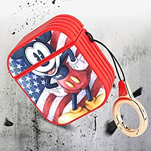 Amazon.com: Wireless Airpod Case American Flag Mickey