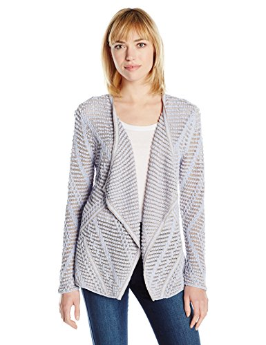 NIC+ZOE Women's Diamond Dot Cardy, Sky, S