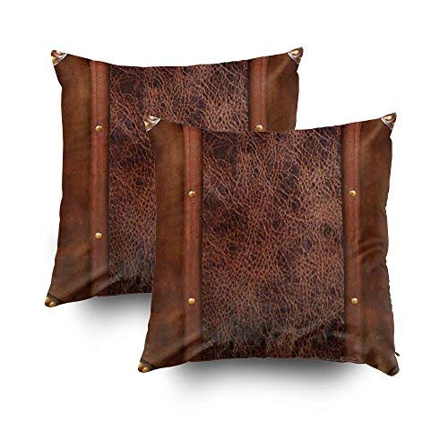 Capsceoll 2PCS Western Dark Brown Design Throw Pillow