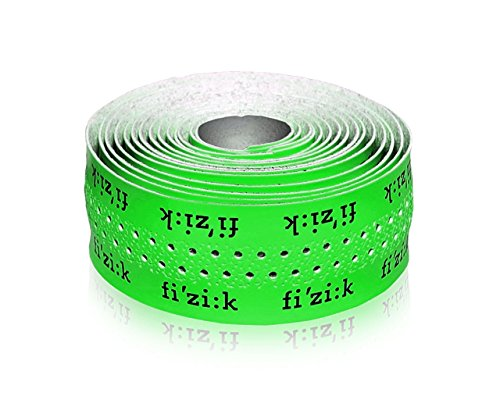 Fizik Superlight Glossy Bar Tape with Logo, 2mm, Green Fluo