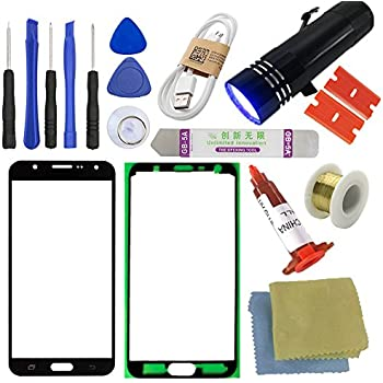 For Samsung Galaxy J7 Screen Replacement Sunmall Front Outer Lens Glass Repair Kit J700 J700F J700G J700H J700Y