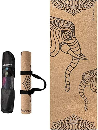 Yoga mat コルクのヨガマット印刷ロングノンスリップ自然環境保護ウッドラバーフィットネスヨガマット workout
