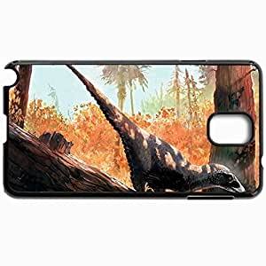 Customized Cellphone Case Back Cover For Samsung Galaxy Note 3, Protective Hardshell Case Personalized Dinosaur Black