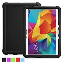 Poetic Samsung Galaxy Tab S 10.5 Case [TURTLE SKIN Series] - Rugged Silicone Case for Samsung Galaxy Tab S 10.5 (SM-T800 / SM-T805) Black (3-Year Manufacturer Warranty from Poetic)