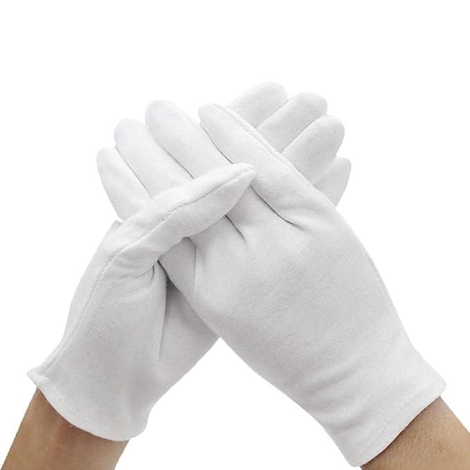 Amazon.com: Guantes de esmoquin de algodón blanco formal ...