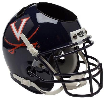 (Schutt NCAA Virginia Cavaliers Authentic Mini Football Helmet Desk Caddy)