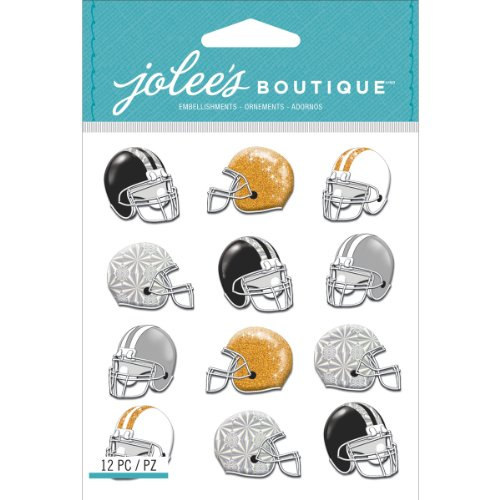 - Jolee's Boutique Dimensional Stickers, Football Helmets Repeats