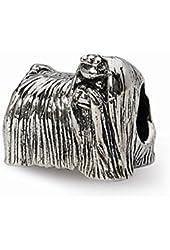 Sterling Silver Maltese Dog Charm Bead Fits Pandora Chamilia Biagi Bracelet