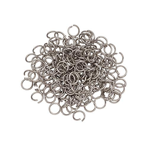100 Silver Plated 7mm Round 1mm Thick Jumpring Findings