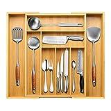 Best Flatware Silverware Kitchen Drawers - BAYKA Silverware Organizer Expandable Kitchen Drawer Organizer 100% Review