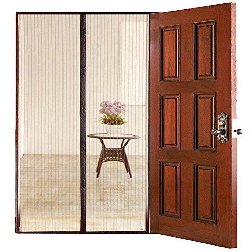 HOMEE Hands-Free Magnetic Mesh Screen Door Retractable for French Doors, Garage, Patio, Gardens, Outdoors and Indoor, Up to 39.4