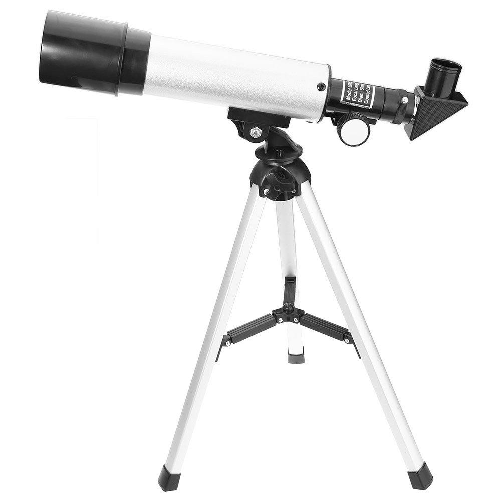 F36050M Telescopio, Lente astronomica portatile Lente per paesaggio ottico 90 gradi con treppiede per osservazione di cielo e paesaggio (bambini / principianti) outlife GBlife20180507b