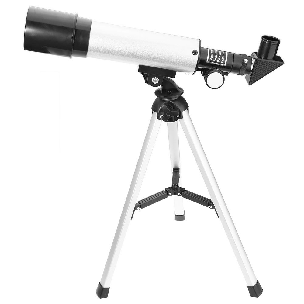 shellcare Astronomical Refracting Telescope Landscape Lens with Tripod for Kids,Teen,School Study (Black)