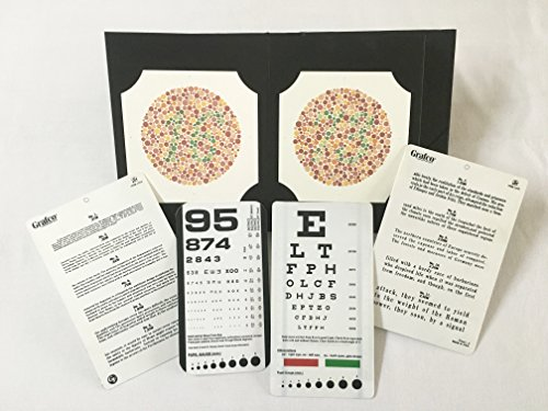 Ishihara's Book for Colour Deficiency Latest Edition 38 Plates with Pocket Eye Charts by Visionären (Image #1)