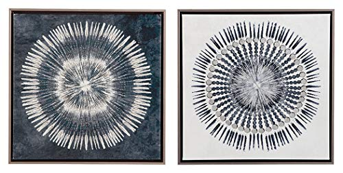 Ashley Furniture Signature Design - Monterey Wall Art - Set of Two - Contemporary - Blue/White (Art Abstract And White Blue)