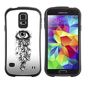 Suave TPU Caso Carcasa de Caucho Funda para Samsung Galaxy S5 SM-G900 / Eye Girl Depression Sad Heartbreak / STRONG