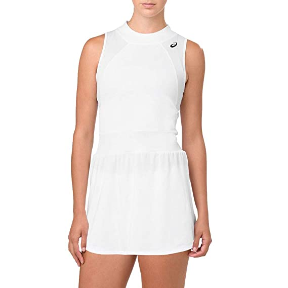 Asics Gel Cool Women's Tennis Dress SS19 White: Amazon.co